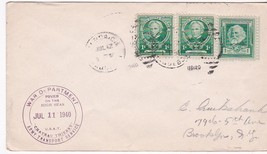 BALBOA CANAL ZONE POSTED ON HIGH SEAS WORLD WAR II JULY 11 1940 WAR DEPA... - $4.98