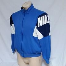 VTG Nike Track Jacket Grey Tag 90s Jordan Colorblock Coat Running Air Ma... - $39.99