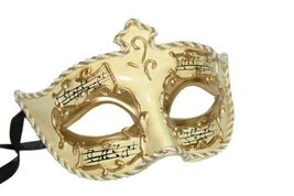 Best Choice: Venetian Paper Mache Mask w/ Music Notes - $8.73