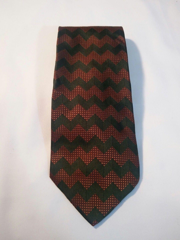 Geoffrey Beene Mens 3 Ties + CashMe Green Plaid Acrylic Scarf Handmade Silk Tie image 8