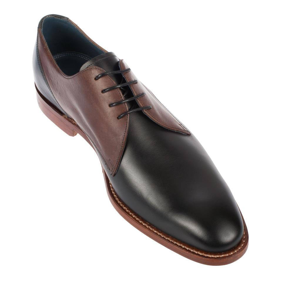 Handmade Men's Black And Maroon Leather Oxford Shoes