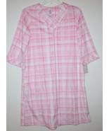 White Stag NWT Women's Pink Plaid Fleece Zip Front Duster Breakfast Robe - $29.30
