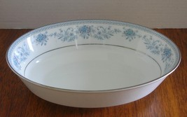 "Noritake Blue Hill 9.75"" Oval Serving Bowl Dish Contemporary China 2482 Euc - $19.39"