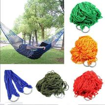 Bed Hammock Hanging Swing Hot Travel Camping Outdoor Mesh Nylon multicolor - $12.71+