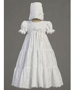 Baby Girls Cotton Embroidered Christening Baptism Dress Size 0-3 Months - $69.00