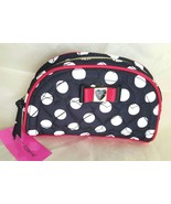 Betsy Johnson Dome Dots Quilted Hearts Cosmetic/Other Essentials Bag BMC... - $28.99