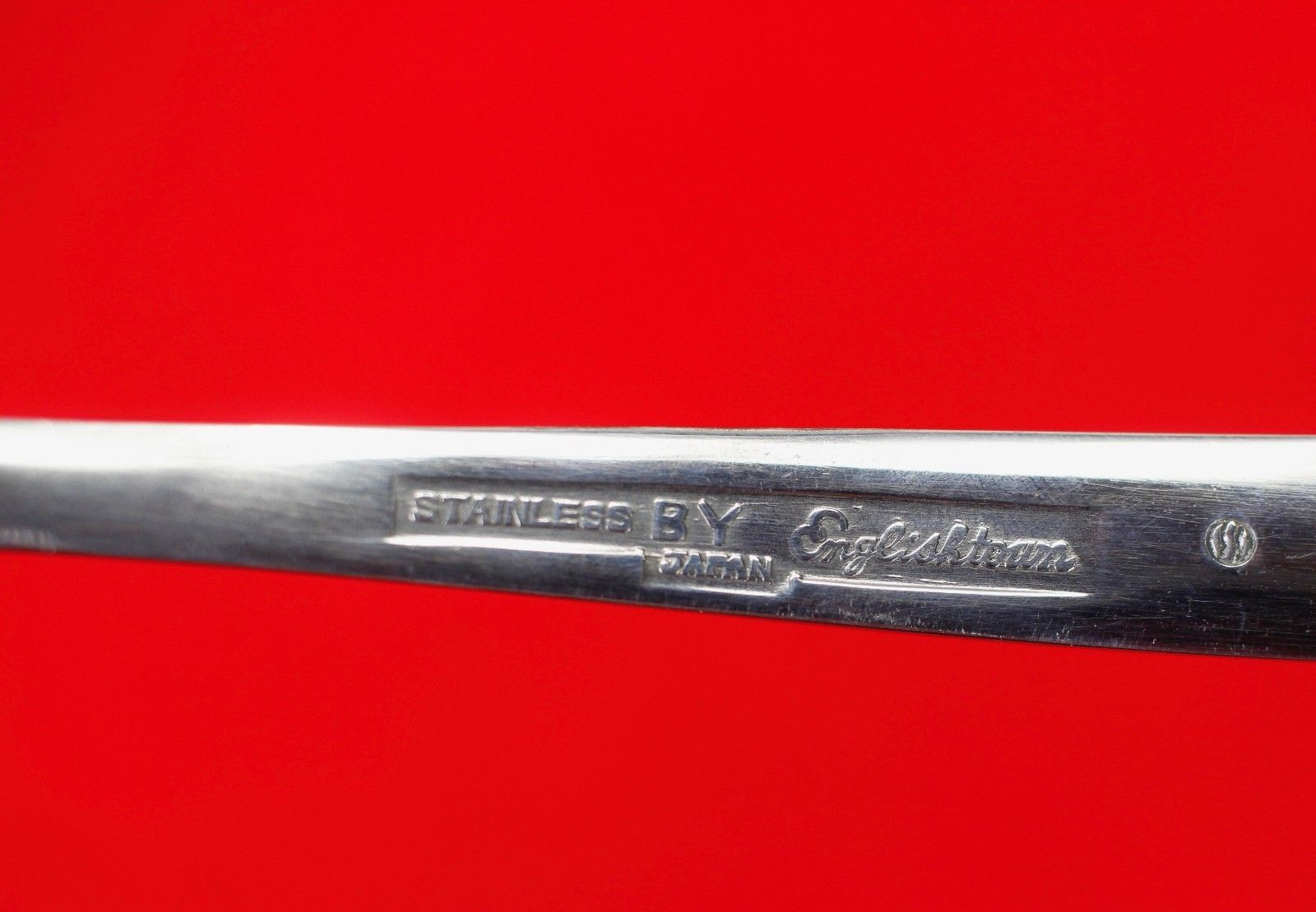 "Solid Gravy Ladle Englishtown ENS2 Stainless Glossy Flatware 6 1/8"" Plain Spoon"