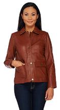 Liz Claiborne New York Heritage Collection Lamb Leather Jacket, Cognec, Size 4 - $69.29