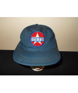VTG-1980s Derby Star logo foam retro snapback hat sku24 - $27.83
