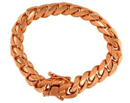 Italian 14k Rose Gold Cuban-Link Bracelet - $4,200.00