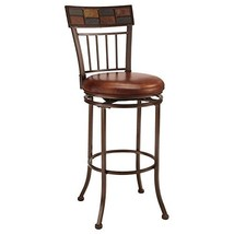 ModHaus Living Contemporary Faux Leather Upholstery Swivel Stool with Me... - $116.27