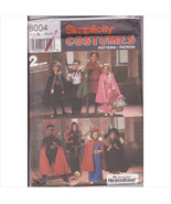 Simplicity 8004 Childs Kids Costumes Sizes Small to Large Dracula Vampir... - $11.00