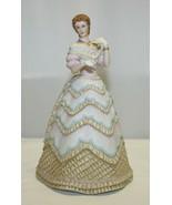 "Vintage Porcelain Lenox Ivory Belle of the Ball Figurine 8.5"" Lady w/ Pu... - $49.49"