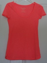 American Eagle Outfitters EUC Neon Orange/Pink Short Sleeve Top Womens XS - $9.89