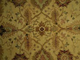 Agra Wool Handmade Rug 10 x 14 Oriental Ivory Rug image 6