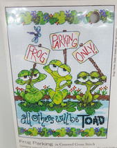 DIMENSIONS Frog Parking Embroidery Counted Cross Stitch Kit 70-65148 NEW... - $11.99