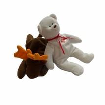 Vtg Ty Teeny Beanie Baby Maple Canada Bear 1999 Moose Lot 1993 - $12.86