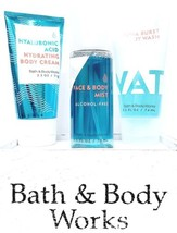 Bath & Body Works Water Face Mist, Hyaluronic Acid Hydrating Cream, Aqua shower - $20.30