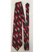 JERRY GARCIA Silk Necktie Tie Geometric Weave Multicolor 100% Silk - $14.95