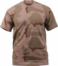 Mens Tri-Color Desert Camouflage Tactical Military Short Sleeve T-Shirt - $11.99+