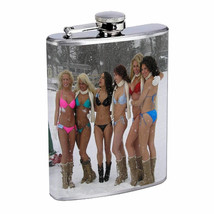 Minnesota Pin Up Girls D2 Flask 8oz Stainless Steel Hip Drinking Whiskey - $13.81
