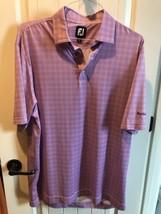 FootJoy Ponte Vedra Inn & Club Purple/White Tartan Checkered Golf Polo Large L - $34.64