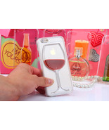 Liquid 3D Wine Glass Cocktail Bottle Phone Case Cover For iPhone 5s 6 6s... - $4.99