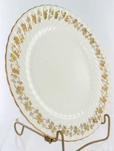 VINTAGE AYNSLEY BONE CHINA GILT IVY FLORAL GOLD  SWIRL DINNER PLATE 1950's image 2