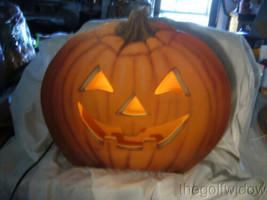 Bethany Lowe Jack O Lantern Dummy Board Luminary with Light Halloween image 1