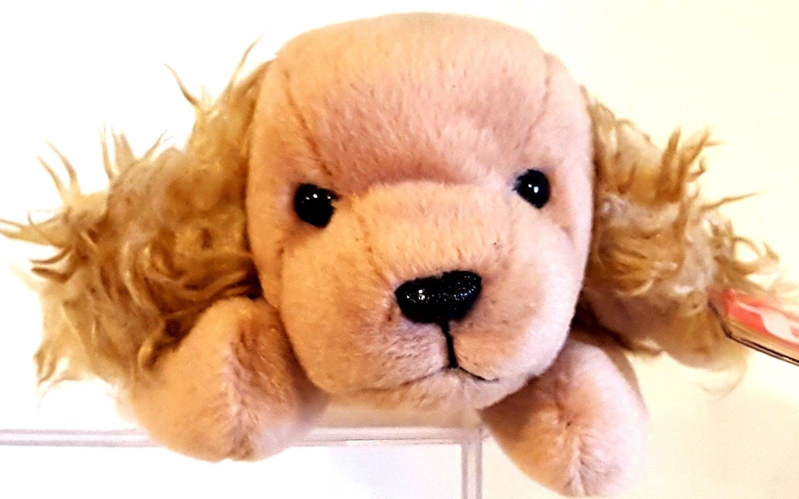 5969a67ba2d ... TY ORIGINAL BEANIE BABY 1997 SN 4184 – SPUNKY THE COCKER SPANIEL DOG –  RETIRED ...