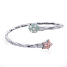 Baby's 14K White Gold with Star and Heart Enamel Bangle Bracelet - $396.00