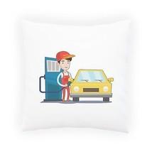 Petrol Station Man Fun Pillow Cushion Cover q445p - $243,36 MXN+