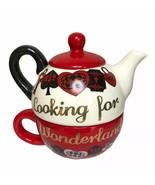 Disney RARE Alice In Wonderland Danielle Nicole Red Queen Tea-for-one Cu... - $49.49