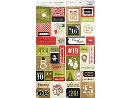 Authentique Advent Blocks Double-Sided Die Cuts, 40 Pieces