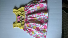 DISNEY BABY 12 Month Girl Minnie Mouse Dress YellowPink Floral TOO CUTE ... - $3.95