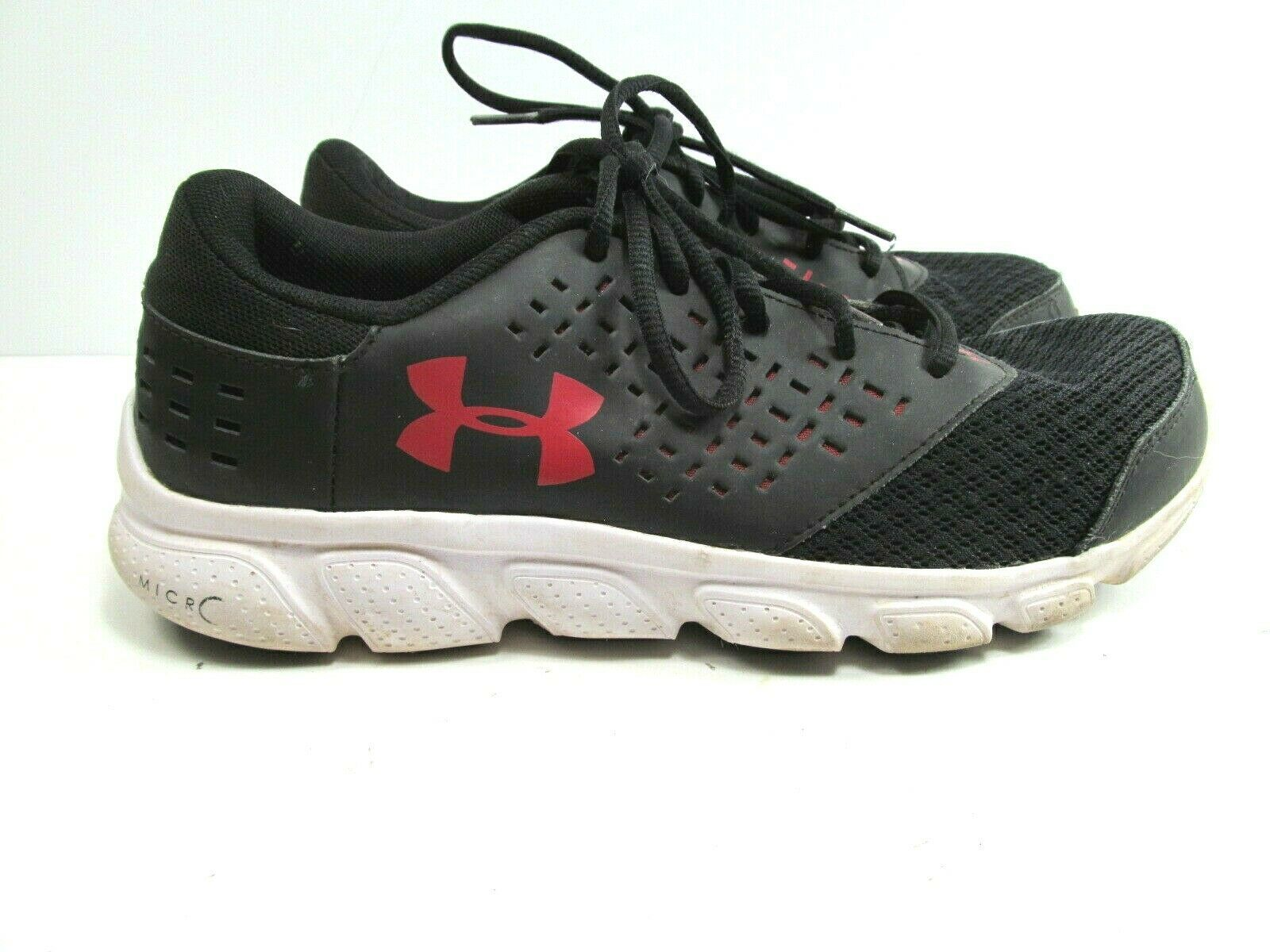 Under Armour Youth Black And Red Sneakers Size US 7Y