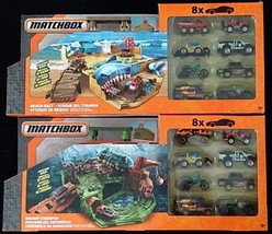 Matchbox Foldable Playsets Swamp Chomper and Beach Bait New 16 Cars incl... - $69.29