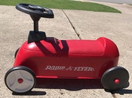 CLASSIC RADIO FLYER RED RIDE ON BICYCLE SCOOTER RARE MODEL 500 USA Made ... - $24.74
