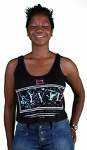 Civil Clothing Splat Box Front Graphics Cotton Crop Tank Top Black Shirt Top