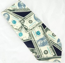 Rene Chagal Money Tie Cash Banker Accountant CPA US Currency Silk Mens N... - $15.25