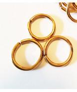 3 vintage jump rings jumprings hoops 25 mm hoop metal jewelry supplies f... - $2.25