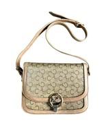 Vintage Celine beige macadam and blason pattern classic shoulder bag wit... - $332.00