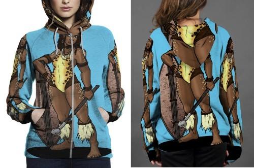 Amazon of chui himaya hoodie zipper fullprint women