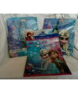 "Disney Frozen party supplies - 2 plastic table covers 54"" x 84"" + 8 loot... - $10.50"