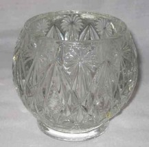 Beautiful AVON Starburst And Diamond Clear Glass Crystal Candle Holder - $33.47