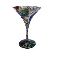 Lolita Martini Collection  21 Hand Painted Martini Glass 21st Birthday - $12.99