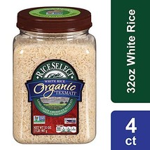 RiceSelect Organic Texmati White Rice, 32 oz Jars Pack of 4 - $33.78