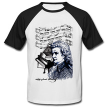 Wolfgang Amadeus Mozart - New Cotton Baseball Tshirt - $27.03