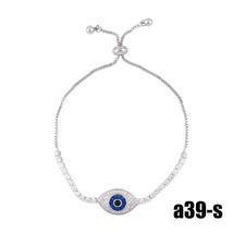 FA 925 Sterling Silver  Bracelet Zirconia Blue Eye Bracelet Turkish Eye Jewelry  - $14.87