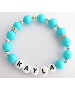 Baby Name Bracelet Baby Girl Gift Custom Name Bracelet Kids Beracelet  - $9.60